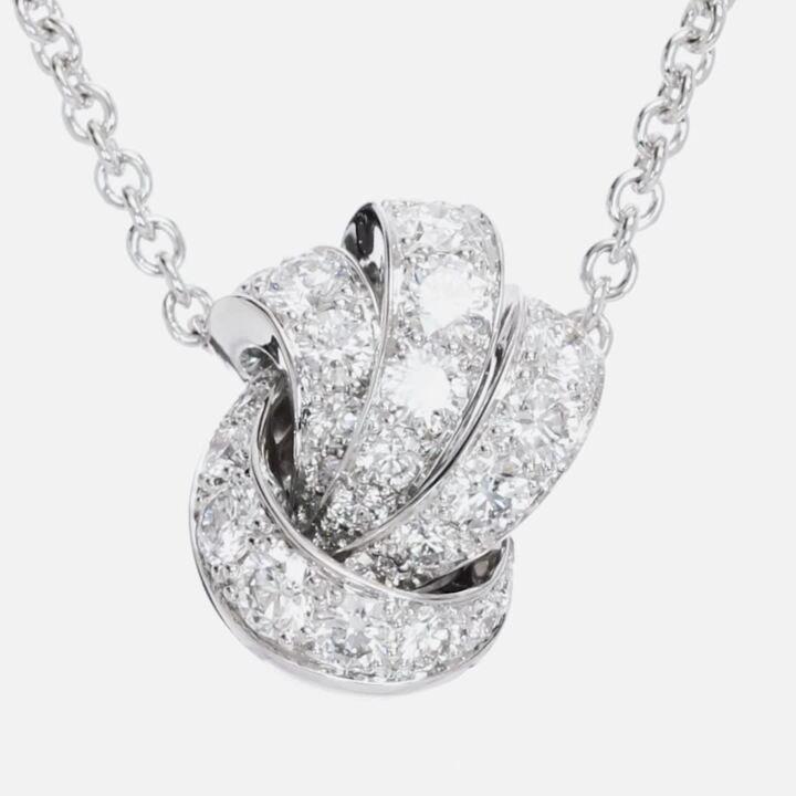 Tilda's Bow Pavé Diamond Pendant