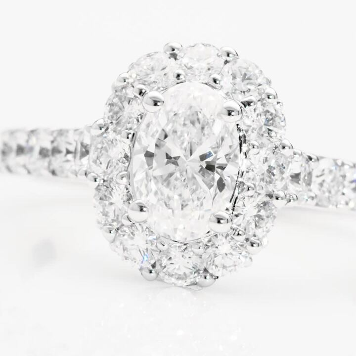 Icon Oval Diamond Engagement Ring