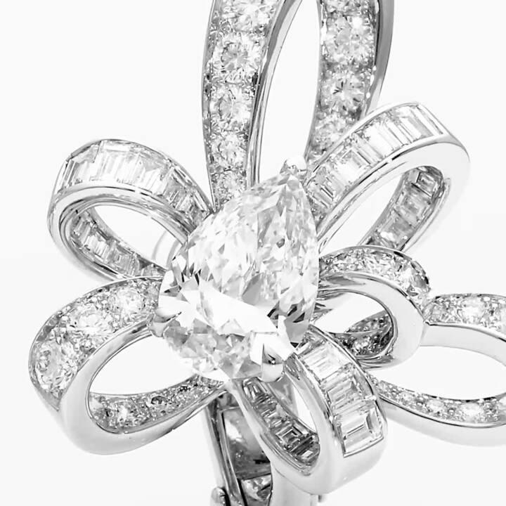 Tilda's Bow Pear Shape Diamond Stud Earrings