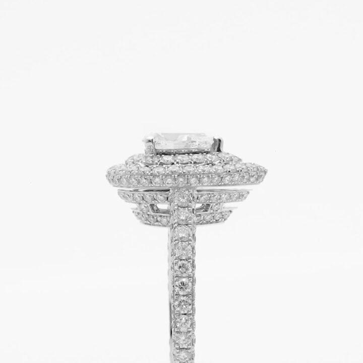 Twin Constellation Pear Shape Diamond Engagement Ring
