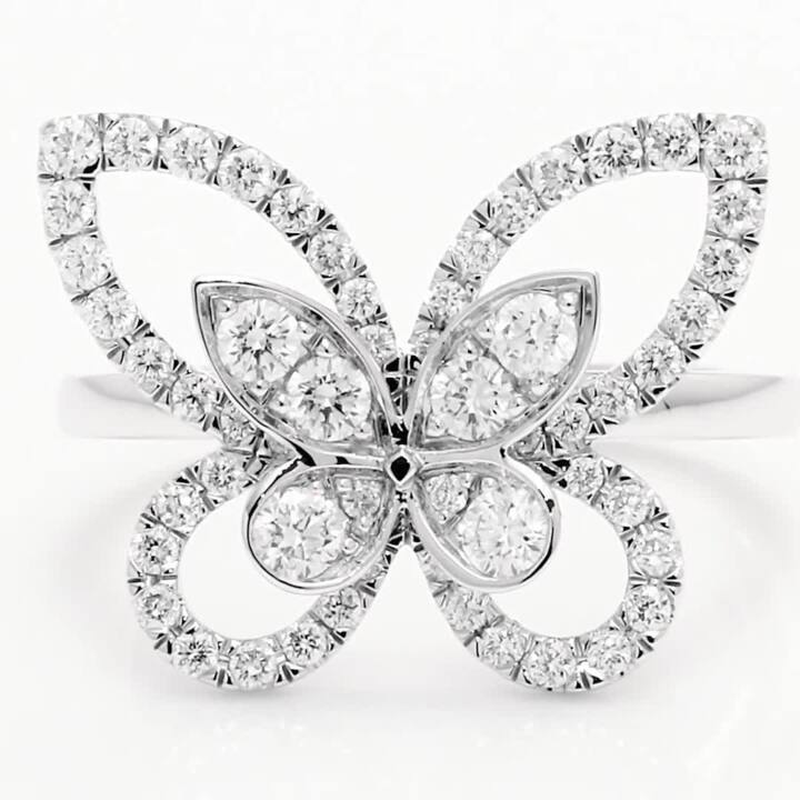 Butterfly Silhouette Diamond Ring