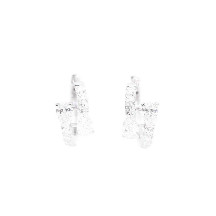 Duet Diamond Hoop Earrings