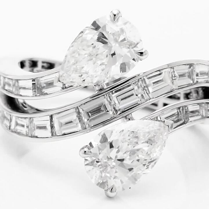 Duet Triple Row Diamond Ring
