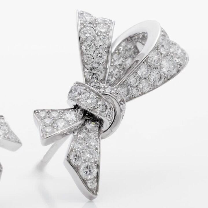 Tilda's Bow Diamond Stud Earrings