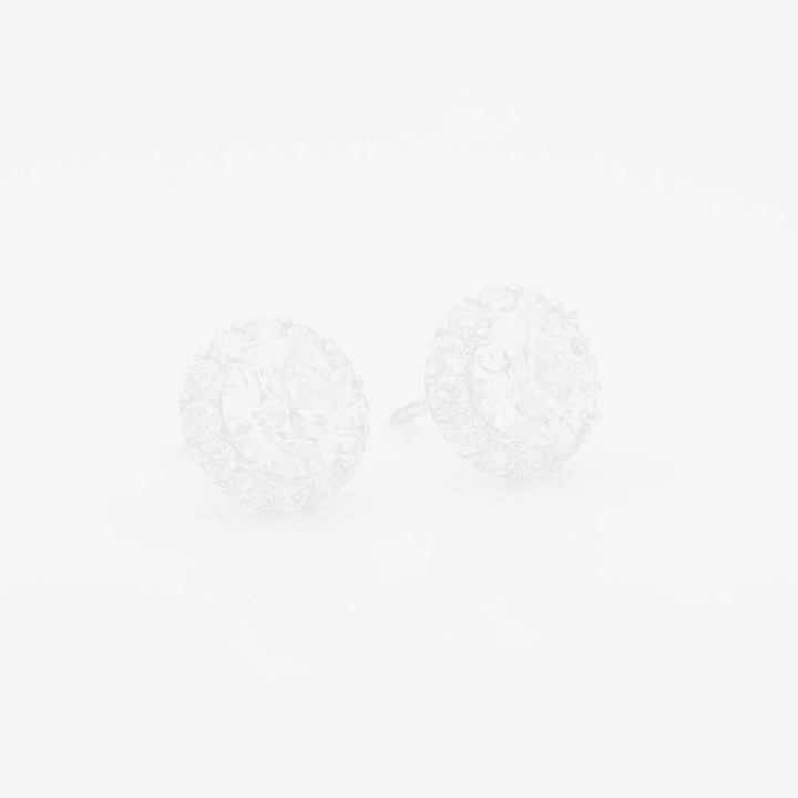 Clous d'oreilles ronds en diamants Icon