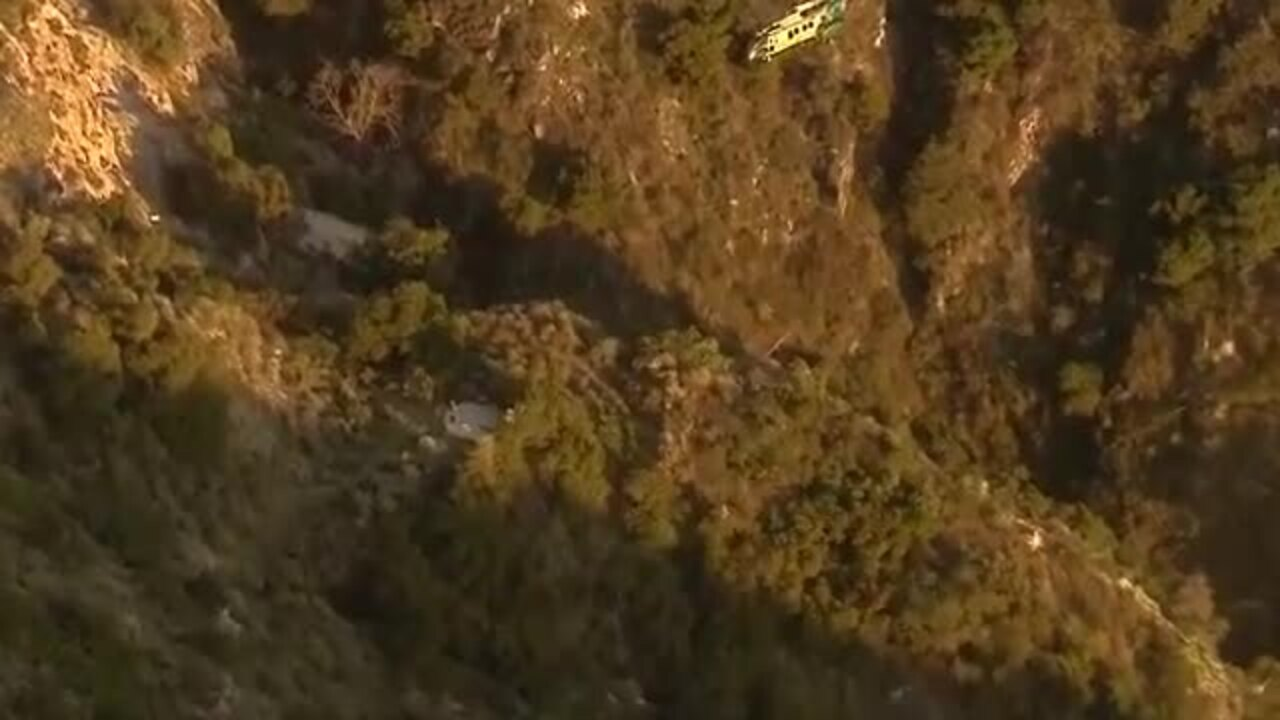 Footage Shows Dramatic Helicopter Rescue After Hiker Gets Stuck On Cliff