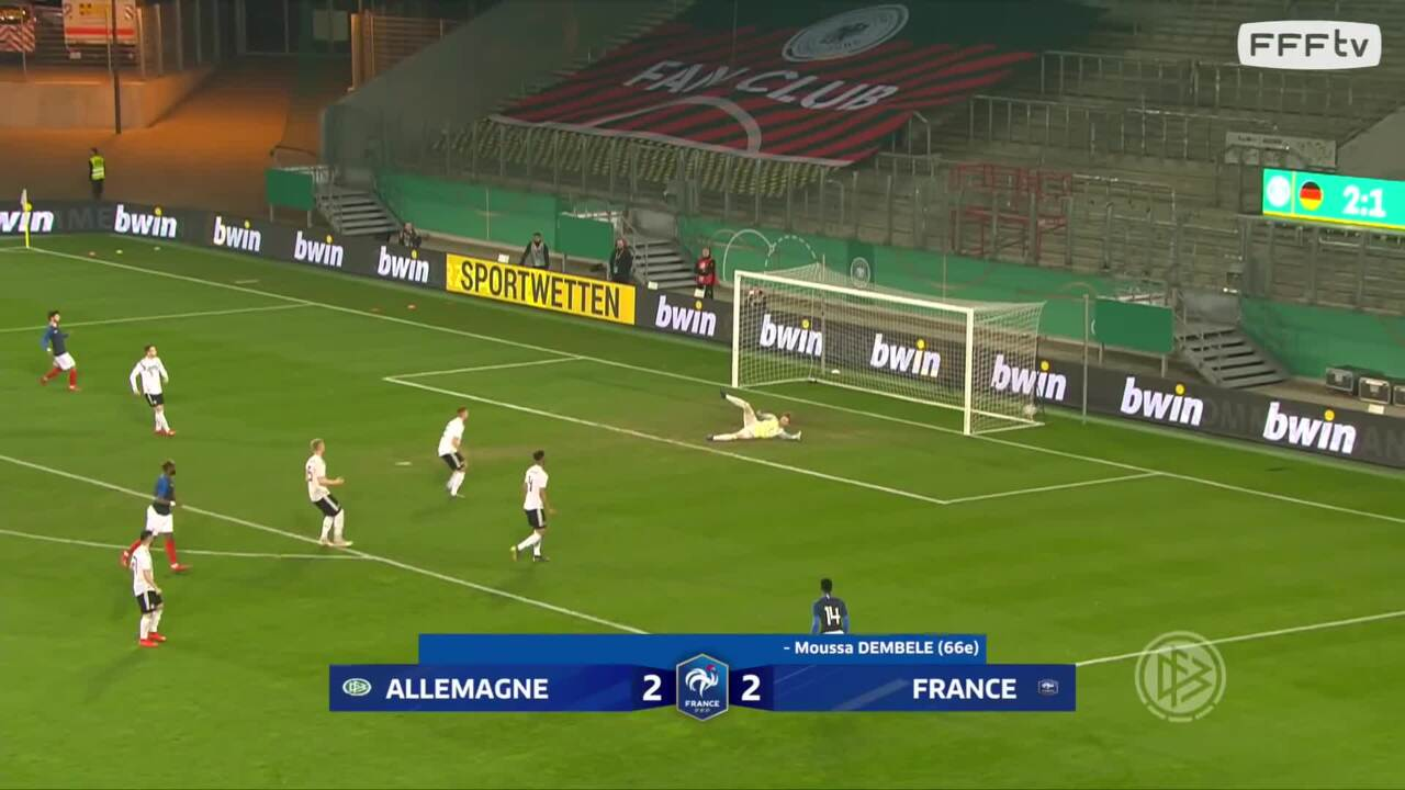 Les buts de Allemagne-France Espoirs (2-2)