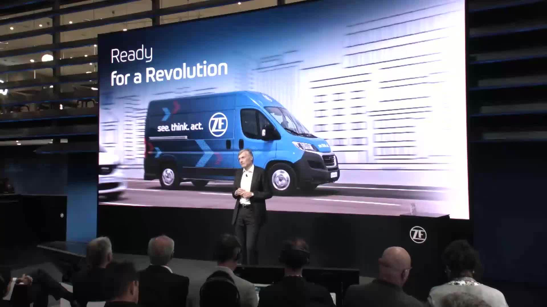 IAA Press Conference at ZF booth