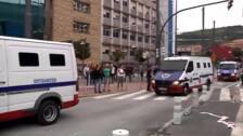 La Ertzaintza disuelve una manifestación en Bilbao en apoyo a los independentistas catalanes