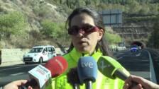 Simulacro de accidente de tráfico en el túnel de Miravete
