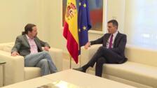 Pablo Iglesias llega al Palacio de la Moncloa