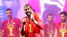 La selección española celebra su segundo Mundial de Baloncesto
