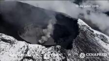 El Centro Nacional de Prevención de Desastres registra un nuevo domo en el Volcán Popocatépetl