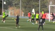El Real Madrid entrena sin sus nuevos lesionados