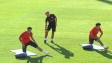 El Atlético entrena con la ausencia de Diego Costa
