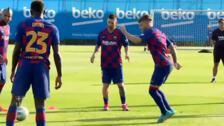 Messi vuelve a entrenar con el equipo