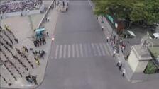 El 'Soldado volador' graba desde el aire el desfile de la Fiesta Nacional de Francia