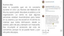 """Sergio Dalma pide disculpas """"al público y a la organización"""""""