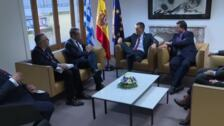 Sánchez se reúne con los primeros ministros de Grecia y Finlandia