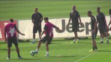 Último entrenamiento de la Juventus antes de enfrentarse al Atlético