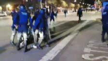 Un menor atropellado durante la noche de disturbios en Tarragona