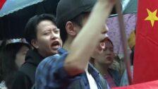 Estudiantes chinos se manifiestan en París contra la violencia en Hong Kong
