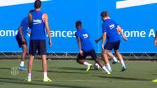 Messi, a punto para debutar en la temporada con el Barça