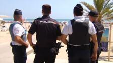 Policía española y francesa patrullan juntas por Gandía