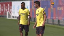 El Barça regresa a los entrenamientos tras vencer al Napoli en Champions