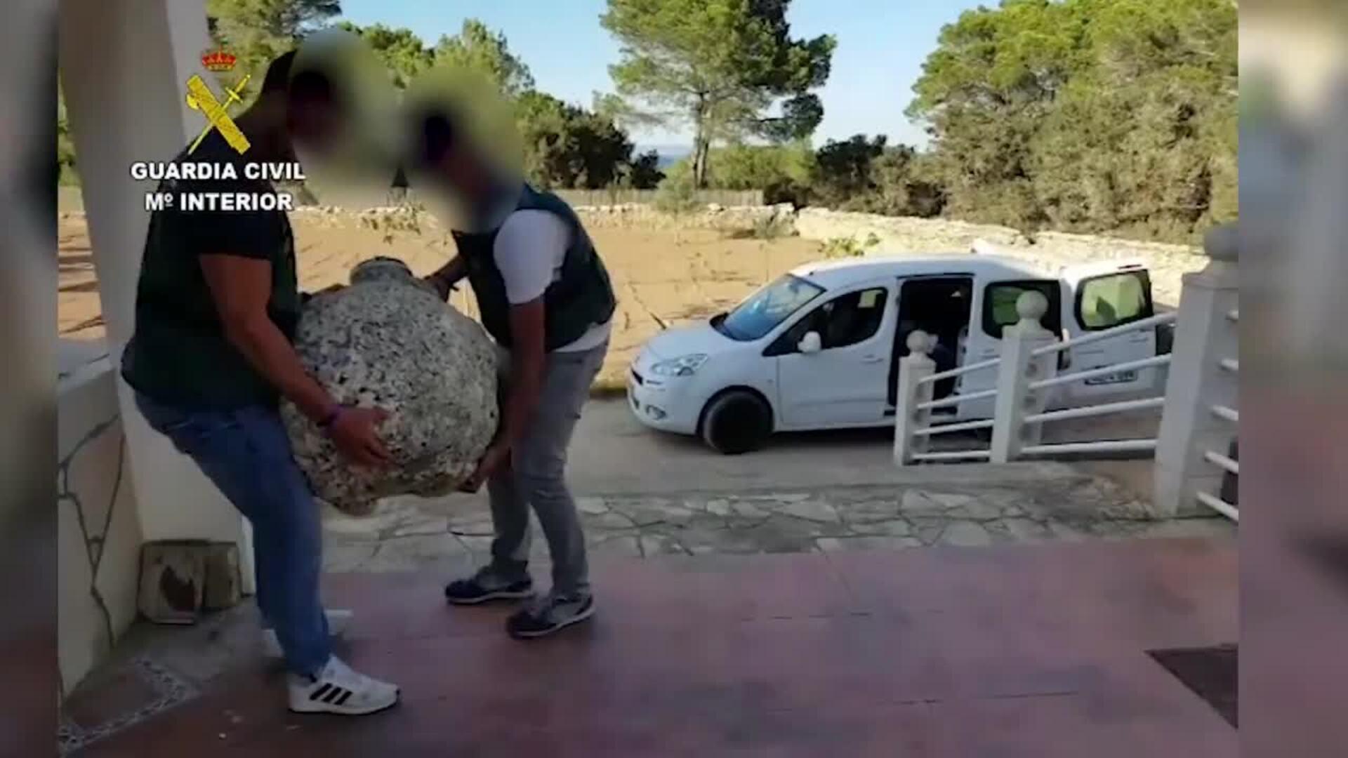 Guardia Civil recupera más de 100 piezas históricas expoliadas