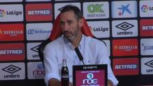 El entrenador del Mallorca, Vicente Moreno, ha presentado a sus dos nuevos jugadores