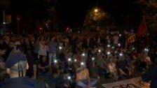 Multitudinaria protesta en Barcelona contra la detención de nueve miembros de los CDR