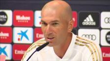 """Zidane: """"James está en forma y estoy contento de que esté en la plantilla"""""""