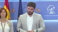 """ERC insiste a PSOE en la necesidad de """"diálogo"""""""