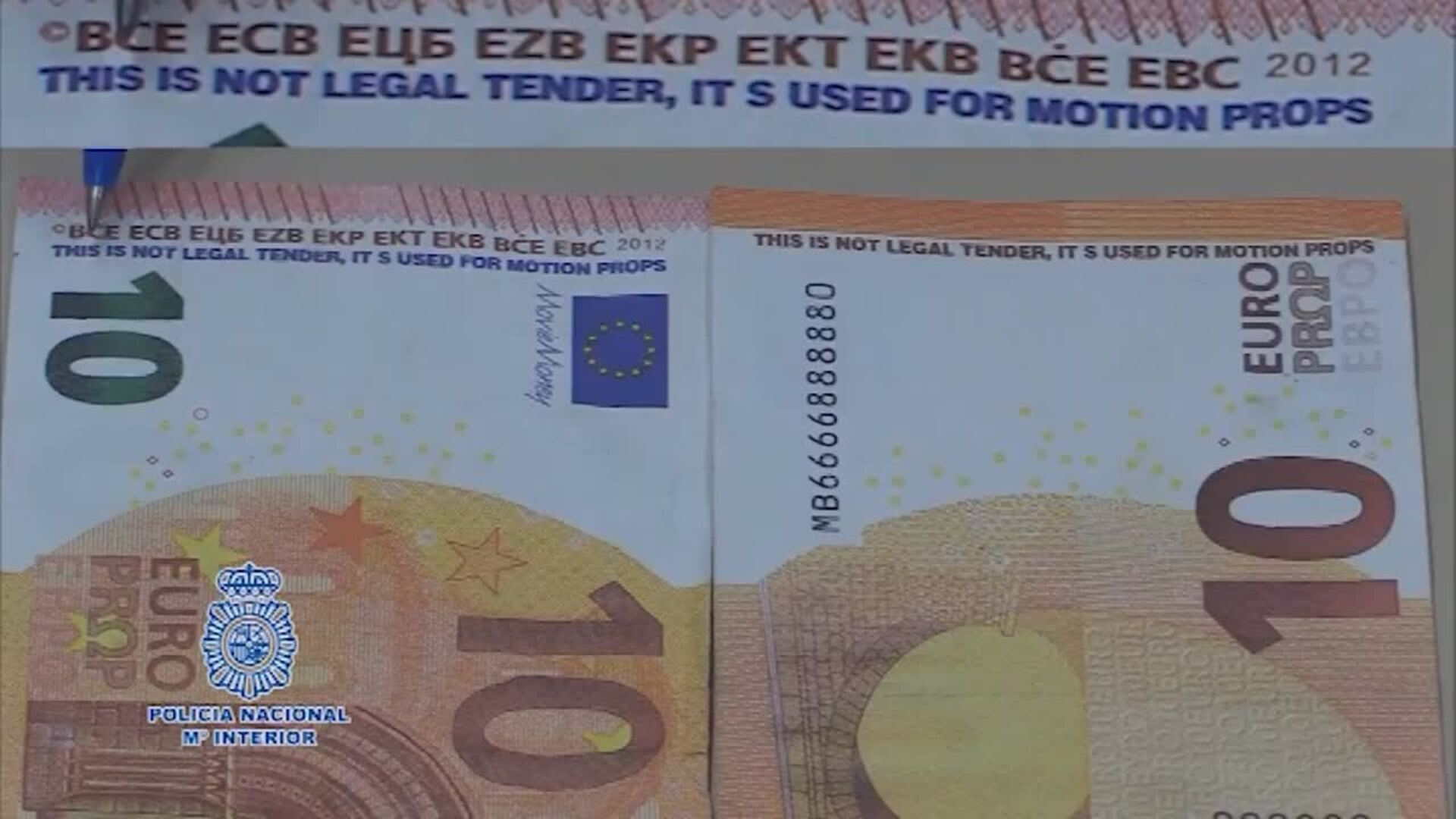 Cómo detectar billetes falsos de 10 euros