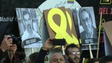 Centenares de personas se manifiestan en Madrid contra la sentencia del 'procés'