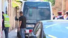 Registro con detenidos del lugar de la presunta violación de Manresa