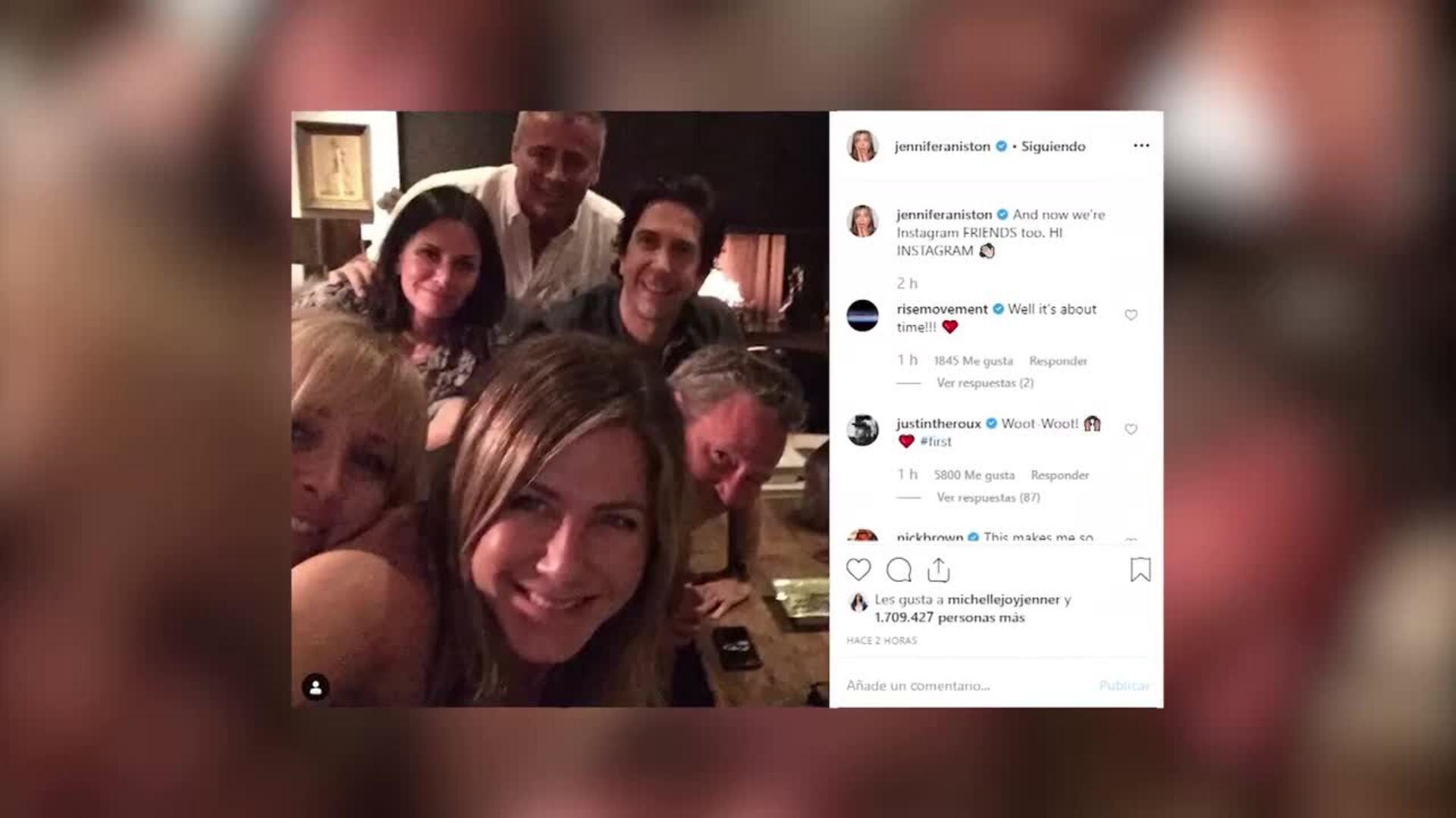 Los protagonistas de Friends se vuelven a reunir