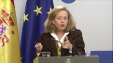 """Calviño, """"satisfecha"""" por los avances en la reforma del euro"""