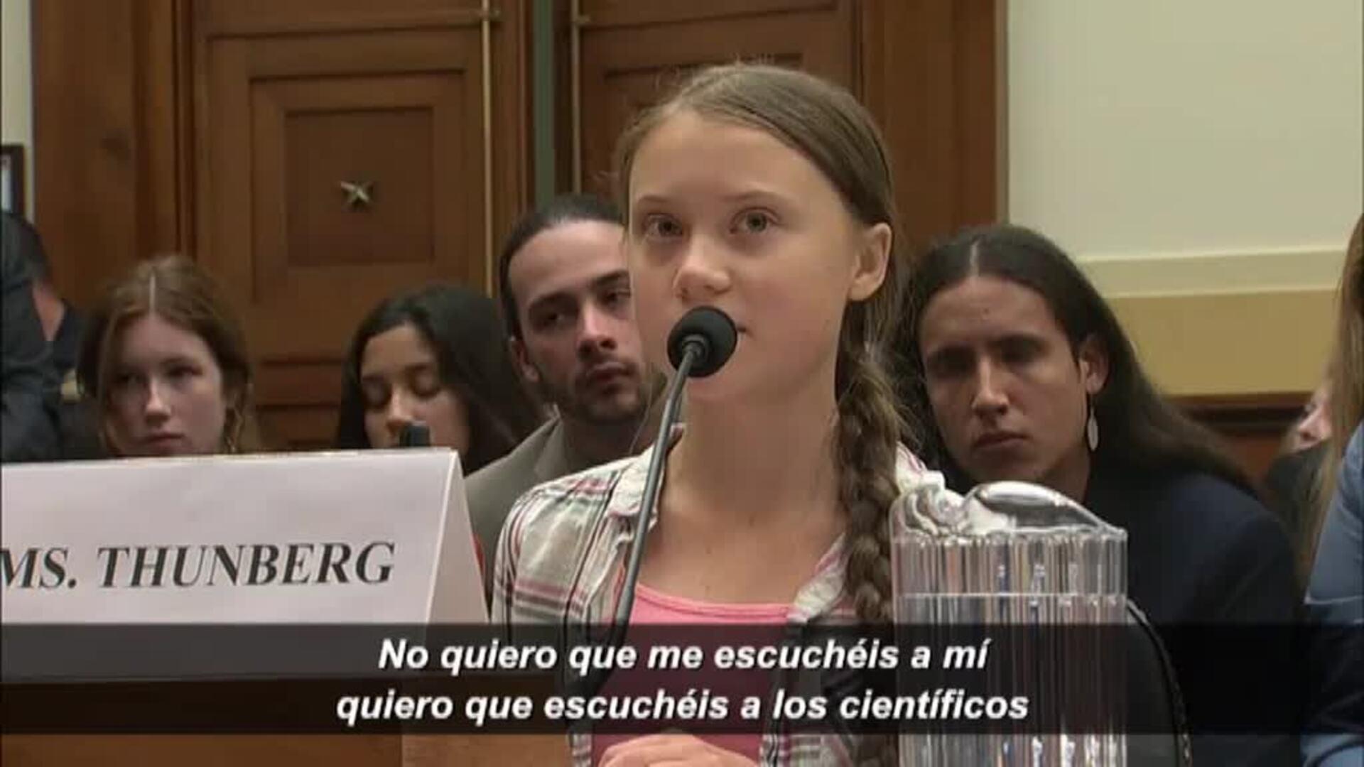 "Greta Thunberg: ""No quiero que me escuchéis a mí, quiero que escuchéis a los científicos"""