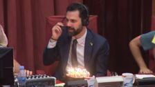 Roger Torrent celebra su 40 cumpleaños en la radio