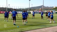 Primer entrenamiento de Griezmann con el FC Barcelona