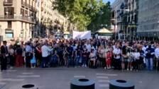 Minuto de silencio por los atentados de 2017