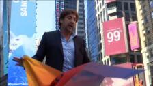 Bardem y Greenpeace piden en Times Square un pacto por lo océanos