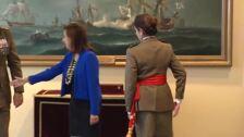 Patricia Ortega recibe el fajín de general del Ejército de Tierra