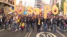La situación en Cataluña marca la manifestación de Jusapol