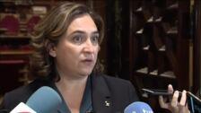 Ada Colau acusa a Quim Torra de no explicar cómo hay que afrontar la situación en Cataluña