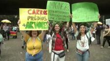 Los jóvenes brasileños se unen a las protestas mundiales contra el cambio climático
