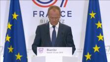 Donald Trump marca el inicio de la cumbre del G-7 en Biarritz