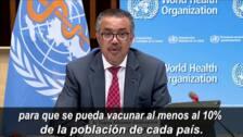 La OMS pide una moratoria de la tercera dosis de la vacuna hasta finales de septiembre